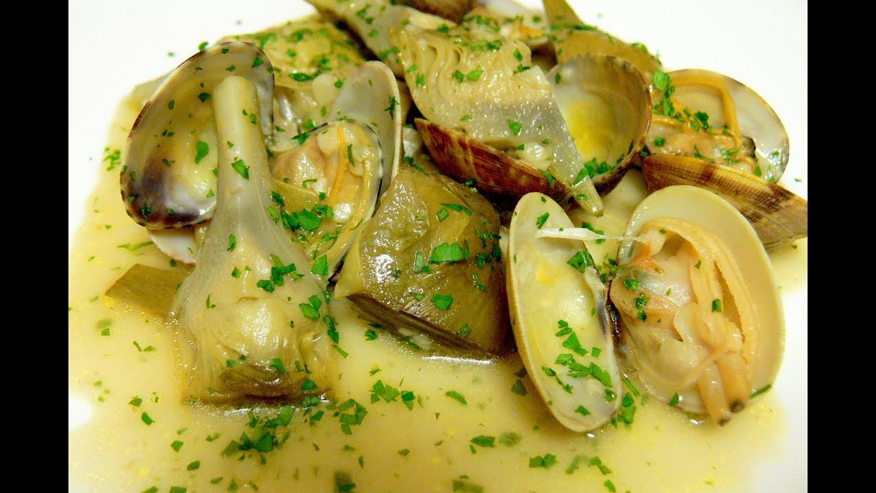 Cocinar para los amigos alcachofas con almejas youtube Cocinar ortigas de mar