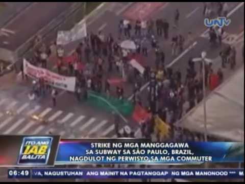 Strike ng mga manggagawa sa subway dito sa Sao Paulo, Brazil, nagdulot ng perwisyo