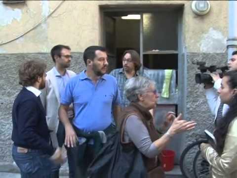 "Salvini visita le case Aler occupate: ""Basta abusivi a Milano"""