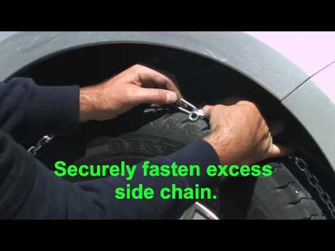 Choosing and Fitting Snow Chains
