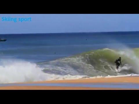 Skiing sport on the sea