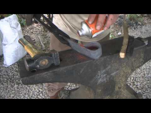 Forge Railroad Spikes Into Tomahawk or Hatchet   Forge Welding