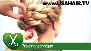 Braiding technique. parikmaxer TV USA