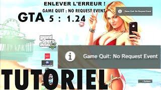[Tuto] [GTA 5] (1.25) : Erreur au lancement du jeu | Game Quit : No Request Event ! (PS3 DEX)