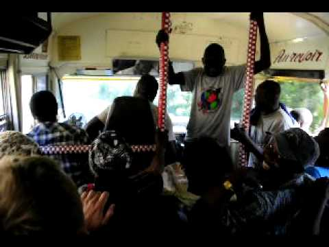 Crazy taptap ride with dancing driver and friends to Cap Haitien, Haiti