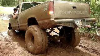 POLARIS RANGER pulls Chevy MUD TRUCK 4x4 OUT OF MUD at Red River Mud Bog