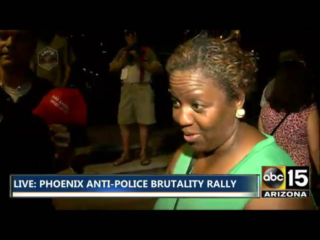 PHX Black Lives Matter Protestor: 'The other stuff don't matter! It's not about Blue Lives!'