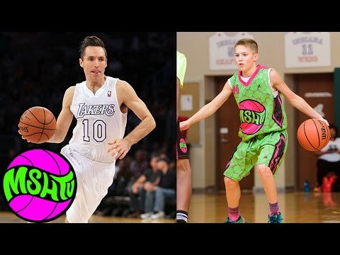 Steve Nash Jr aka Luke Brown - 8th Grader DROPS DIMES at MSHTV Camp - Class of 2020