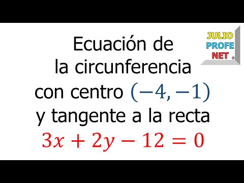 Ecuación de una circunferencia tangente a una recta dada-Equation of a given tangent circle