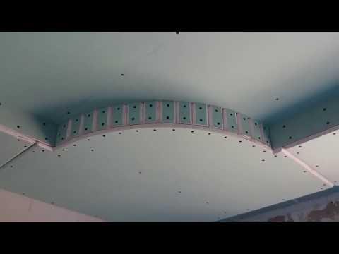 6. классический потолок из гипсокартона, монтаж и белый вариант. Plasterboard ceiling.