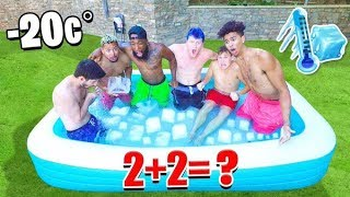 Is 2HYPE Smarter Than a 5th Grader? ICE BATH Challenge