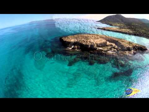 Akamas the Blue Lagoon aerial video by Cyprus from Above and Oramatech
