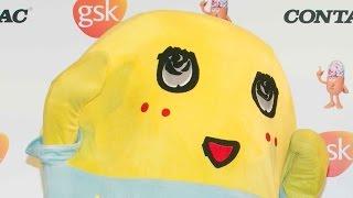 """ふなっしー、花粉対策は「ココア」 世界初?""""くしゃみソング""""お披露目発表会 会見2"""