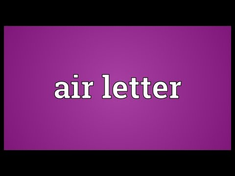 Header of air letter