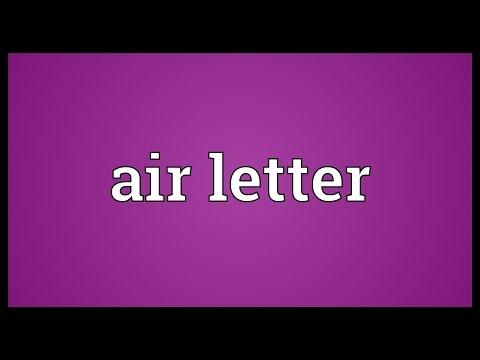 Header of air letter