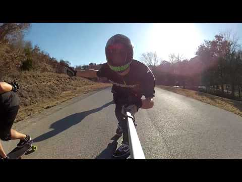Jeff Crashes, Dixon Dances, Kris Breaks Her 40mph Cherry - DFW Longboarding