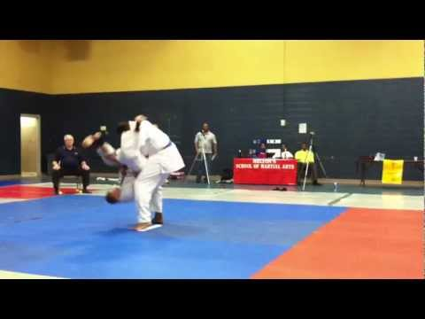 2011 Melton Judo Tournament- Justin RD 1 Open Division Image 1