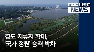 투R]경포 저류지 확대, '국가 정원' 승격 박차