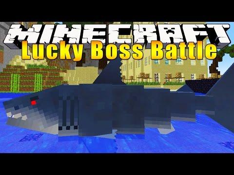 Minecraft Mods : LUCKY BLOCK BOSS CHALLENGE - Great White Shark!