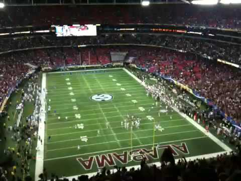 Tebow crying. Rammer Jammer SEC Championship 2009 Florida Alabama