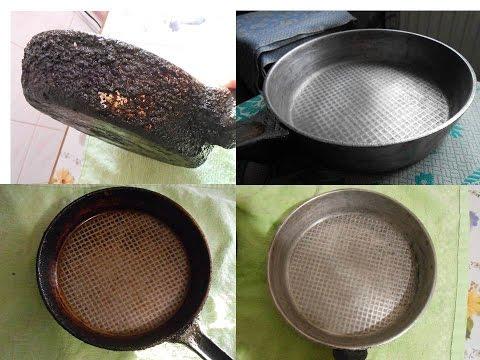 Как удалить нагар со сковородки в домашних условиях