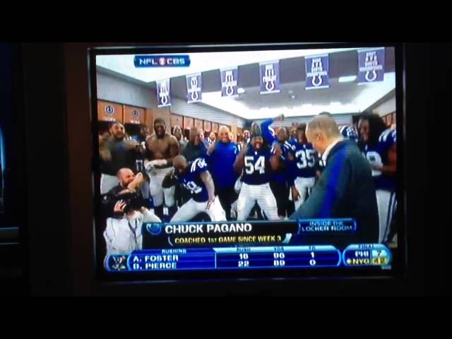 Chuck Pagano dancing in Colts locker room