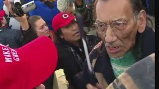Nathan Phillips & friends teach Christianity in front of White House