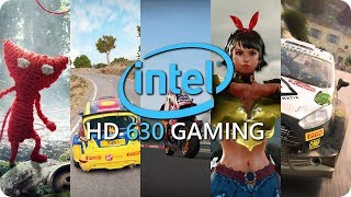 Intel HD 630 Gaming Benchmarks and Frame Rate - Part 3