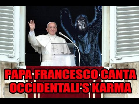 Papa Francesco canta Occidentali's Karma - Pope Francis performing ESC Italian song