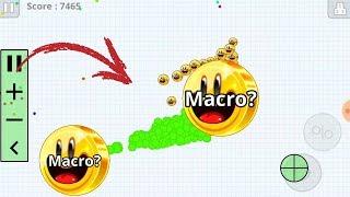"AGARIO MOBILE - MACRO HACK!! - SOLO VS ""NOOB"" - Zork Agario"