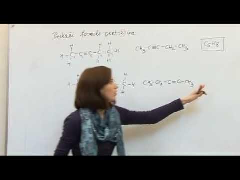Instrukcije iz kemije-Molekulska, strukturna i sažeta formula pentina