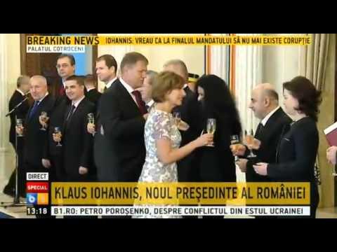 Traian Basescu îi preda mandatul lui Klaus Iohannis