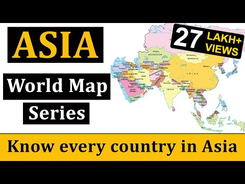 Asia Map | एशिया का मानचित्र | World Map | World Geography thumbnail