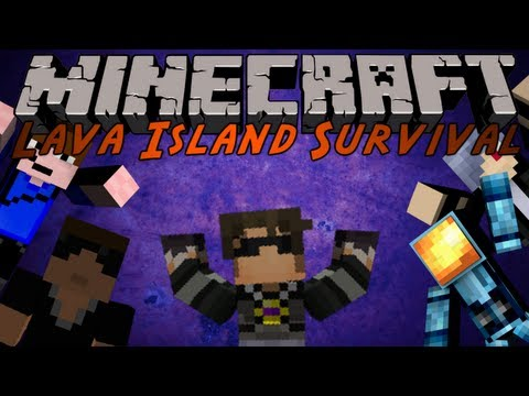 Minecraft : Lava Island Survival 2 /w Friends!