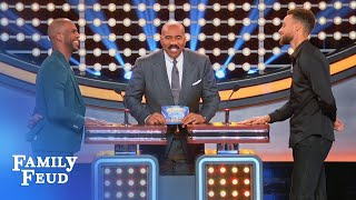 Steph Curry & Chris Paul face off! | Celebrity Family Feud