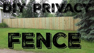 How To Build A 6' Wooden Privacy Fence