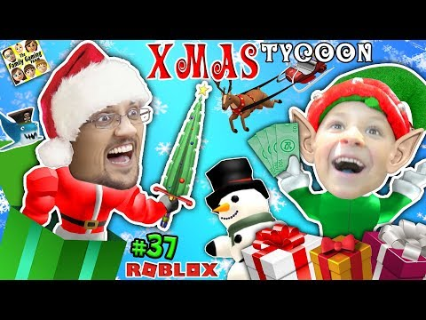 ROBLOX CHRISTMAS TYCOON! FGTEEV Toy Factory @ the North Pole w/ Christmas Songs & Holiday Swords