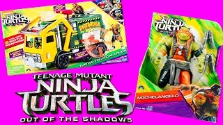 TEENAGE MUTANT NINJA TURTLES Tactical Truck & Michelangelo Playset TMNT Out of the Shadows Toys