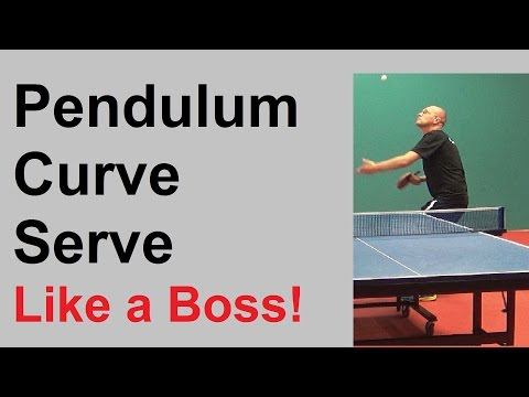 Table Tennis Pendulum Curve Serve - Like a Boss!