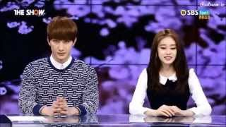 150407 SBS The Show News - Jiyeon, Hongbin, Zhoumi Cut