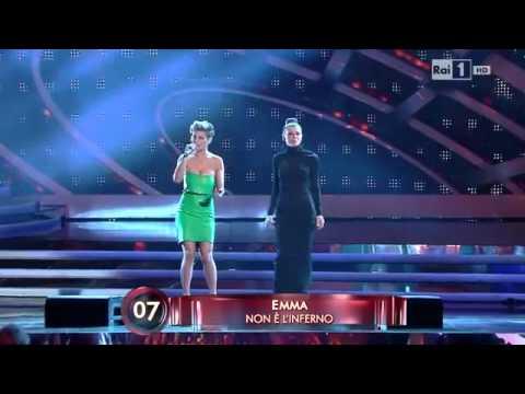 Emma e Alessandra Amoroso – Non è l'inferno (duetto Sanremo 2012 – live 4° Serata) – HD