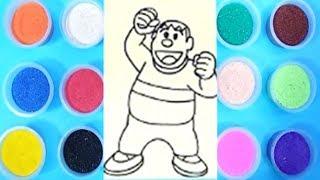 Đồ chơi trẻ em TÔ MÀU TRANH CÁT CHAIEN - Coloring chaien film Doraemon