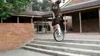 unicycle stair drop