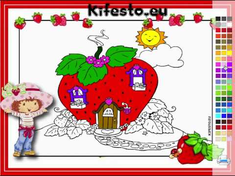 Juego: Colorear Casita Fresita - YouTube