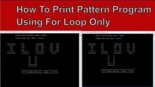 How to Write Love Pattern Program