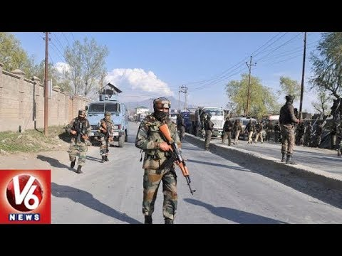 Jammu And Kashmir: Gunfight Between Terrorists and Security Forces Underway in Shopian | V6 News