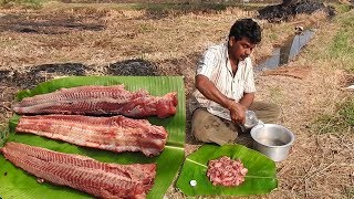 Biggest Fish Catch n FISH Cook with Eggs Dish cuisine | Fish Skinless boneless pakora recipe Food