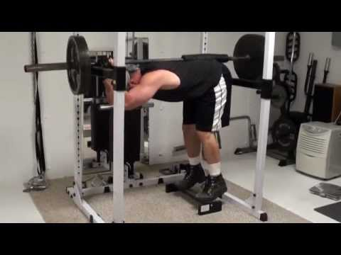 At-Home Calf Training - Lengthwise Barbell Donkey Calf Raises Image 1