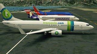 Infinite Flight Transavia Boeing 737-800 - Landing at St Maarten