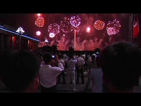 North Korea Celebrates 61st Anniversary Of End Of Korean War With Fireworks - No Comment video